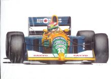 NELSON PIQUET Benetton Ford B191  by Nick Curry